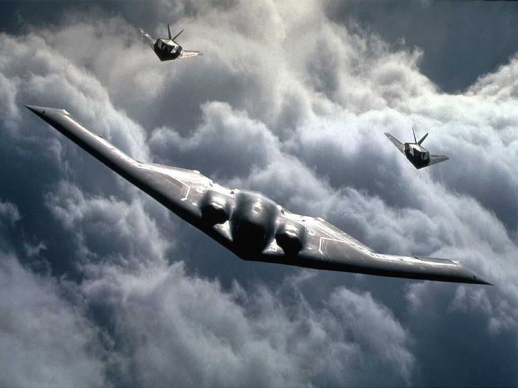 B2 and F117 stealth planes