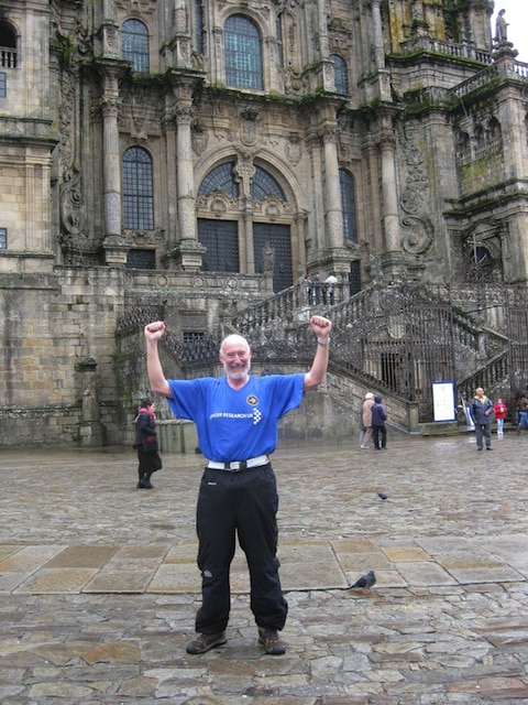 Perry at Plaza del Obradoiro (Obradoiro's Square), the end  of the Santiago's Way. It is really exciting, you have to try it.