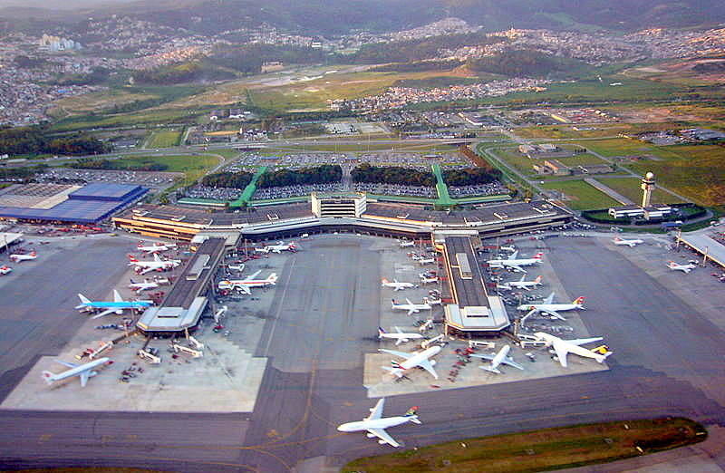Recently (2012) privatized Sao Paulo/Guarulhos International Airport. (GRO) Author: Andomenda at the English language Wikipedia