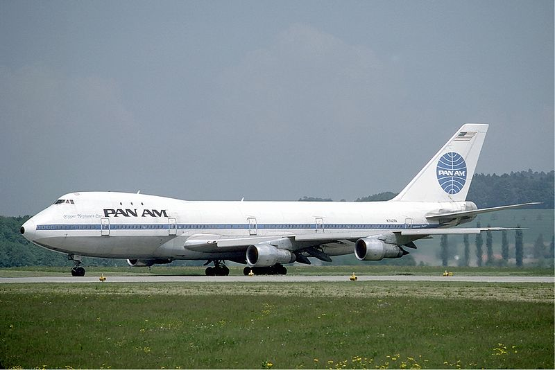 PanAm 747 at Zurich on 1985