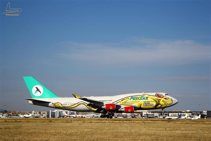 Super Torisimo - Aerosur 747. Image Credit: Ana C.Saez @anacsaez