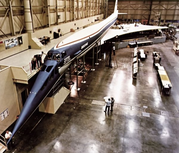 Boeing 2707 mockup during its development's phase.