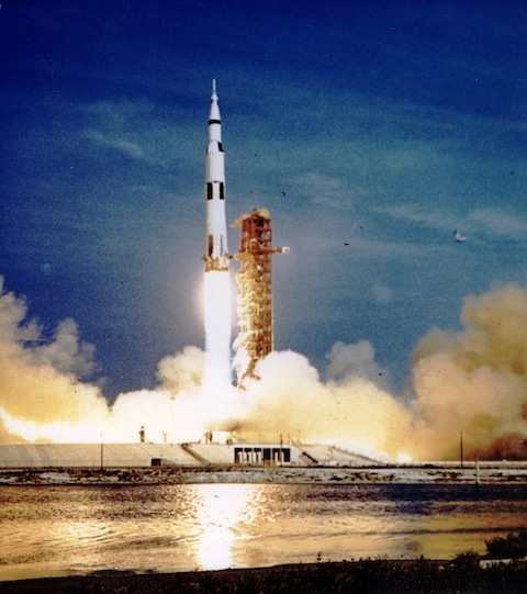Saturn V Liftoff with the Apollo XI