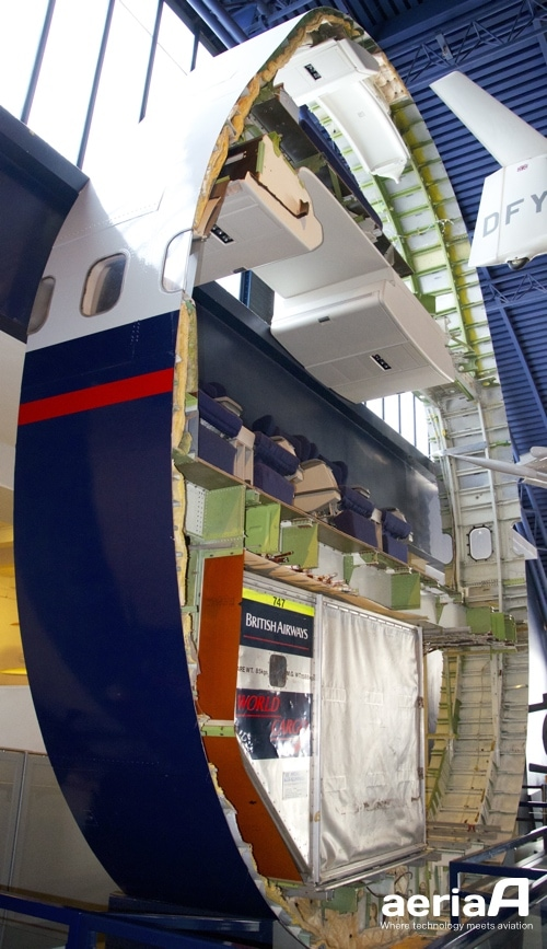 747 fuselage's section. Science Museum London. Image Credit: Pedro Garcia.