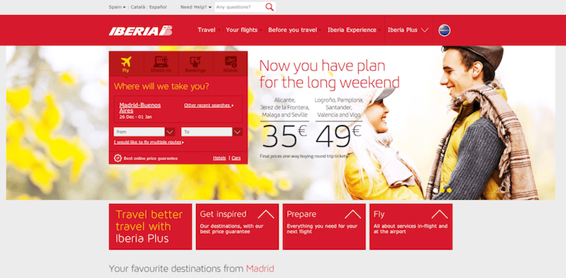 The new Iberia.com website released on 2013.