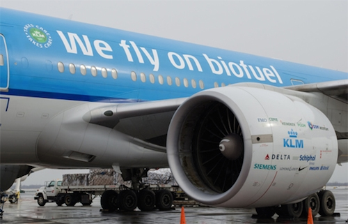 KLM Boeing 777 with Biofuel