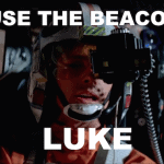 On the use of beacons at airports. A Star Wars Tribute.